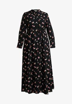 SMUDGE PRINT DRESS - Maxikjole - black/pink