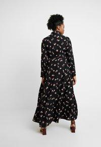 Glamorous Curve - SMUDGE PRINT DRESS - Maxi šaty - black/pink - 3