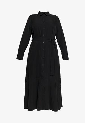 SIDE SPLIT SHIRT DRESS - Maxi dress - black