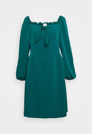 SQUARE NECK DRESS - Day dress - green