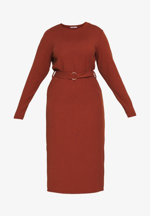 BELTED JUMPER DRESS - Robe d'été - rust