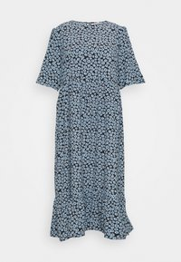 Glamorous Curve - MINI FLORAL MIDI DRESS - Day dress - dusty blue - 0