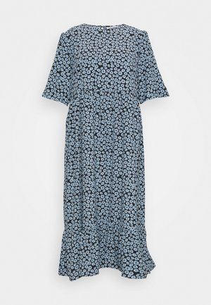 MINI FLORAL MIDI DRESS - Korte jurk - dusty blue