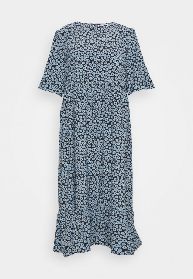 MINI FLORAL MIDI DRESS - Hverdagskjoler - dusty blue