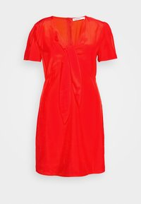 Glamorous Curve - TIE FRONT SHIFT DRESS - Day dress - red orange - 3