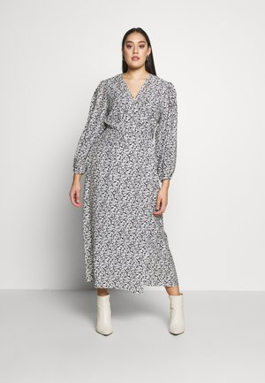 MIDI DRESS - Day dress - black white floral