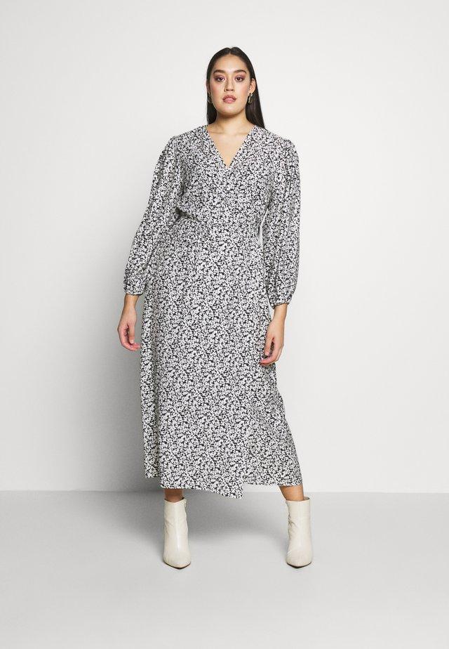 MIDI DRESS - Day dress - black white floral