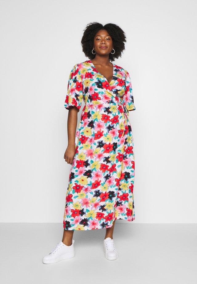 FLORAL WRAP DRESS - Robe d'été - multi