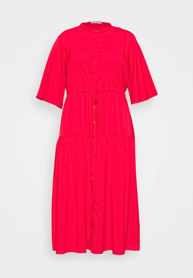 TIE WAIST DRESS - Day dress - coral red