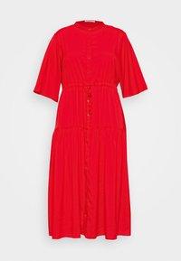 Glamorous Curve - TIE WAIST SHIRT DRESS - Shirt dress - coral red - 3