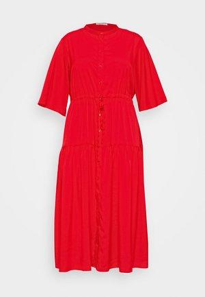 TIE WAIST DRESS - Denní šaty - coral red