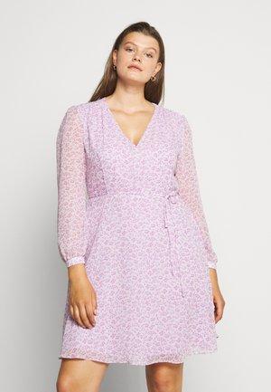 SHEER LONGSLEEVE DRESS - Vapaa-ajan mekko - lilac lavender