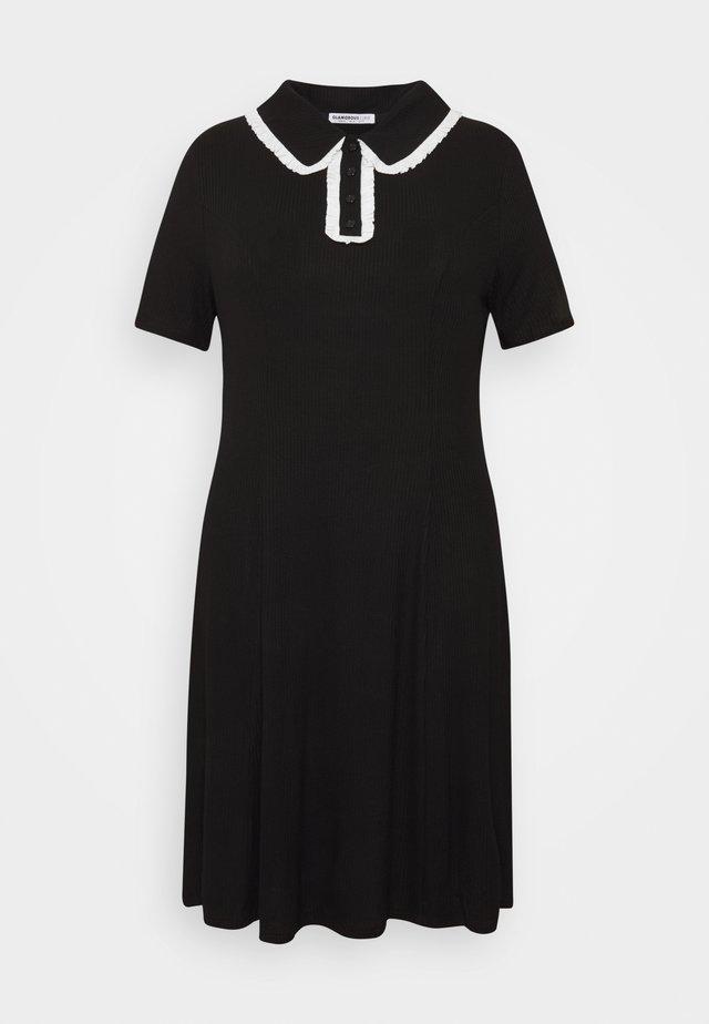 GLAMOUROUS COLLAR DRESS - Denní šaty - black/white