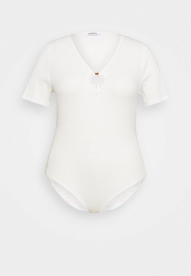 RING DETAIL BODYSUIT - Top - white