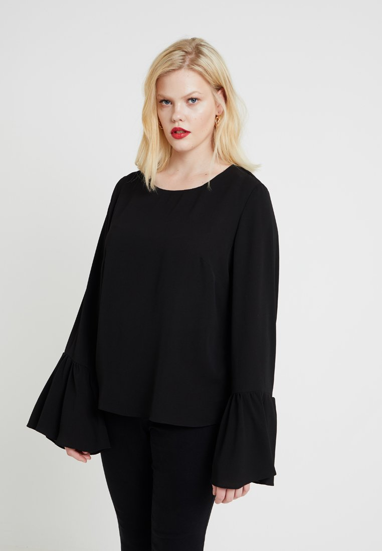 Glamorous Curve - BELL SLEEVES - Camicetta - black