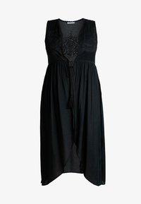 Glamorous Curve - SLEEVELESS EMBROIDERY LONGLINE  - Veste - black - 3