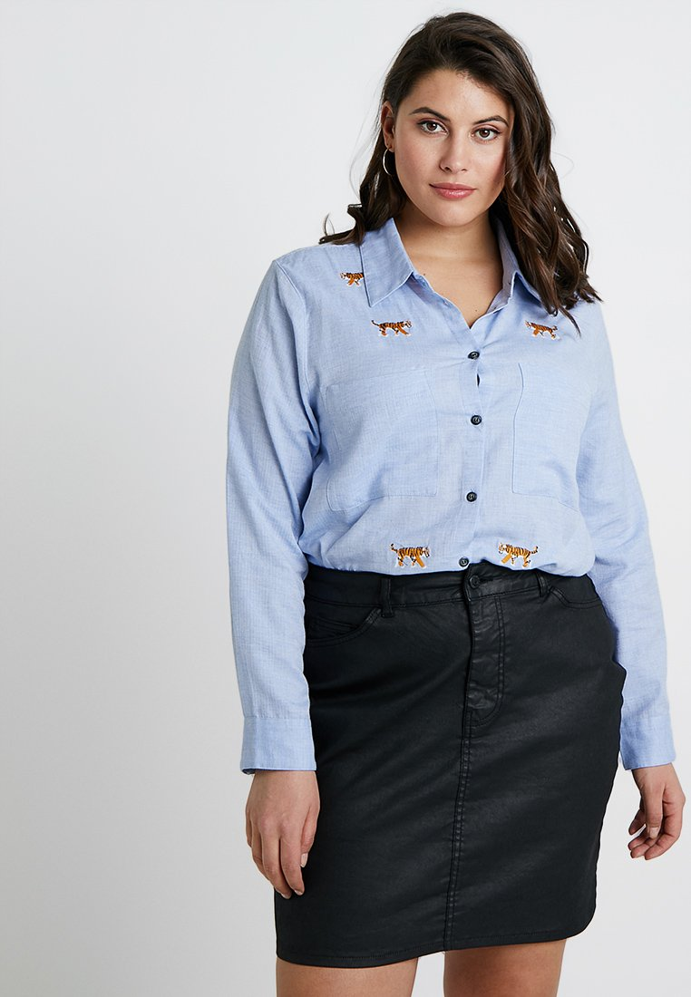 Glamorous Curve - Button-down blouse - light blue