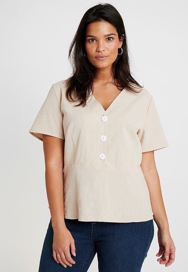 EXCLUSIVE  - Bluse - stone