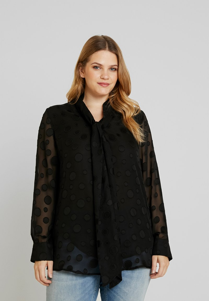 Glamorous Curve - DEVORE BLOUSE - Blusa - black