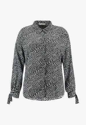 DALMATIAN SPOT TIE SLEEVE - Button-down blouse - monochrome