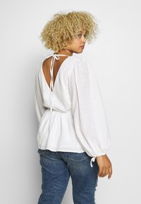 Glamorous Curve - LONG SLEEVE BRODERIE BLOUSE - Blouse - white - 2