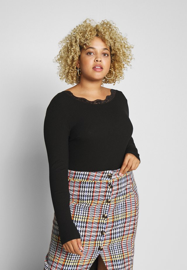 BACK DETAIL - Long sleeved top - black