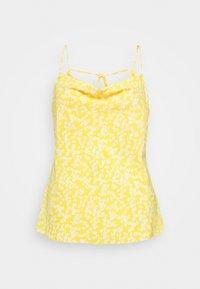 Glamorous Curve - COWEL NECK PRINTED CAMI - Top - yellow - 0