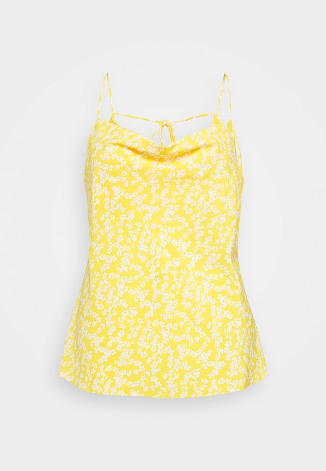 COWEL NECK PRINTED CAMI - Toppi - yellow