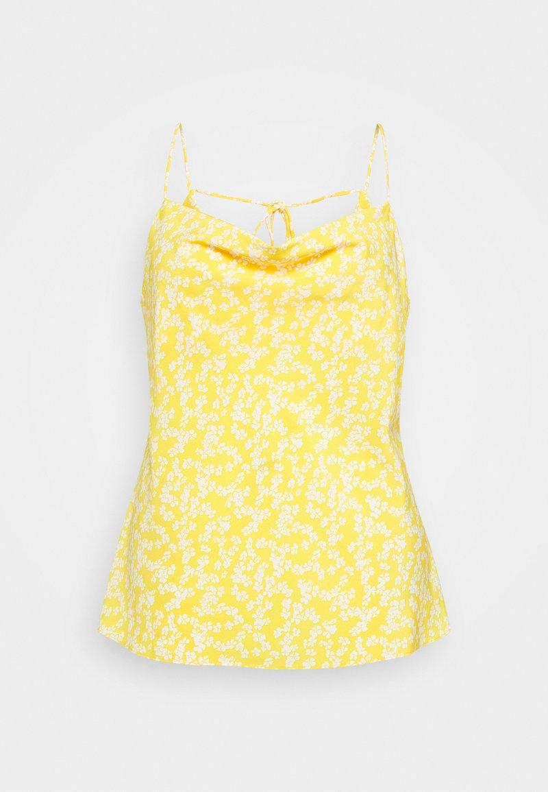 Glamorous Curve - COWEL NECK PRINTED CAMI - Top - yellow