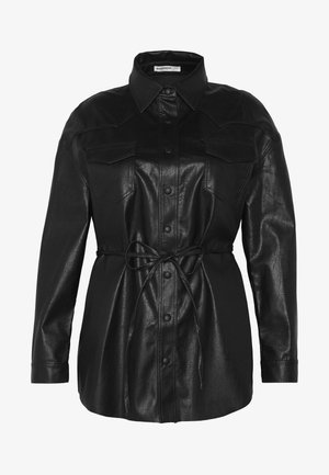 SHIRT JACKETS - Giacca in similpelle - black