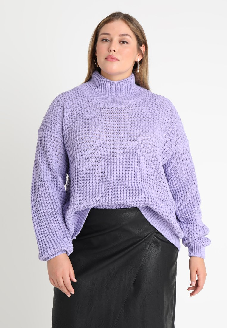 Glamorous Curve - EXCLUSIVE WRAP BACK - Jumper - lilac