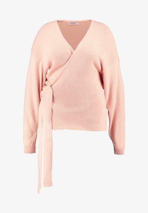 TIE SIDE WRAP CARDIGAN - Gilet - nude pink