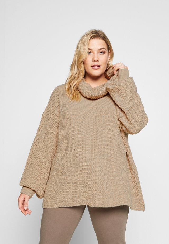 BARDOT JUMPER - Sweter - beige