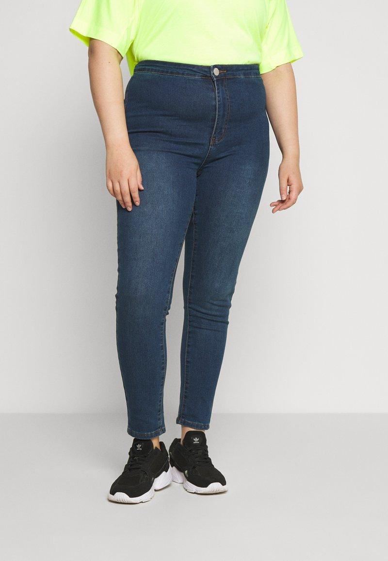 Glamorous Curve - Skinny džíny - dark blue denim