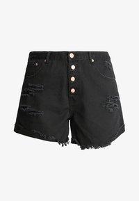 Glamorous Curve - GLAMOROUS CURVE - Short en jean - black - 4