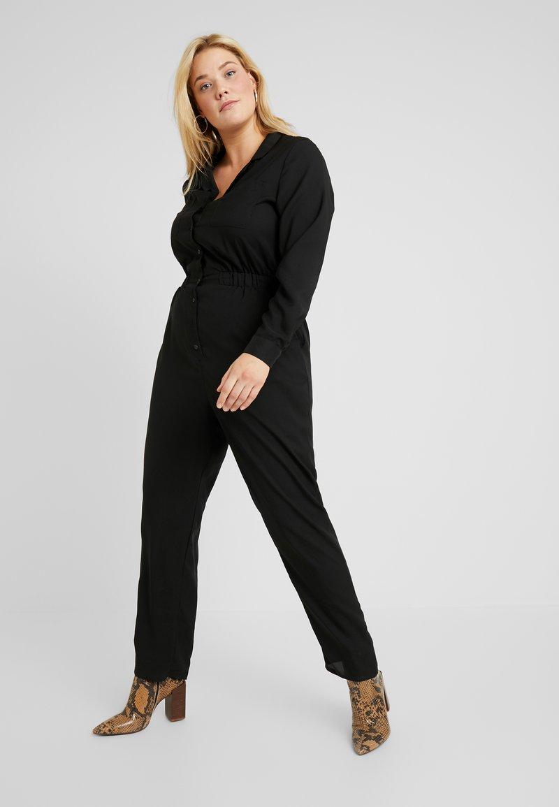 Glamorous Curve - BUTTON FRONT - Combinaison - black