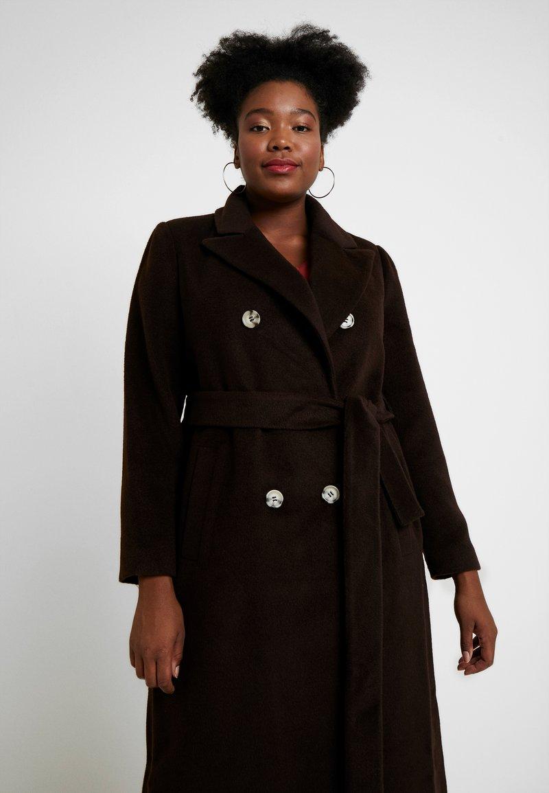Glamorous Curve - MASCULINE COAT - Mantel - chocolate