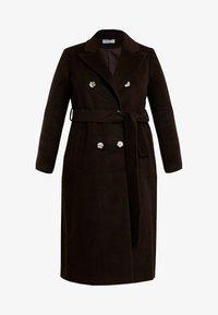 Glamorous Curve - MASCULINE COAT - Mantel - chocolate - 4