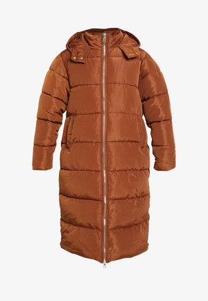 LONGLINE PUFFER COAT - Vinterfrakker - nut brown