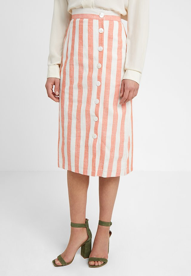 STRIPE SKIRT - Tubenederdele - white/orange