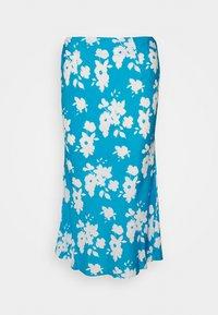 Glamorous Petite - AZURE PRINT SKIRT - Falda acampanada - blue - 0
