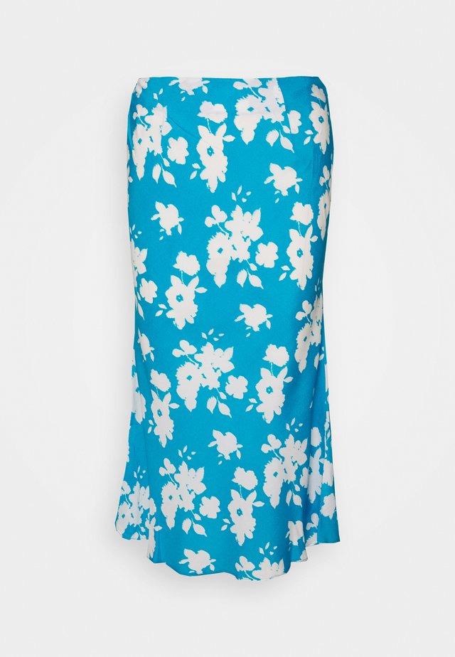 AZURE PRINT SKIRT - A-Linien-Rock - blue