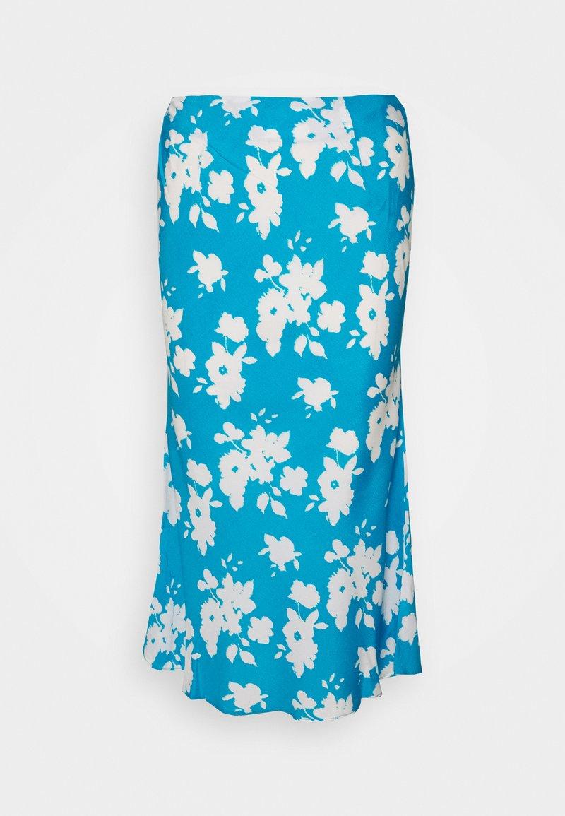Glamorous Petite - AZURE PRINT SKIRT - Falda acampanada - blue