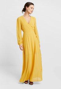 Glamorous Petite - WRAP MIDI DRESS - Maxi dress - yellow - 1