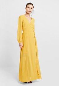 Glamorous Petite - WRAP MIDI DRESS - Maxi dress - yellow - 0