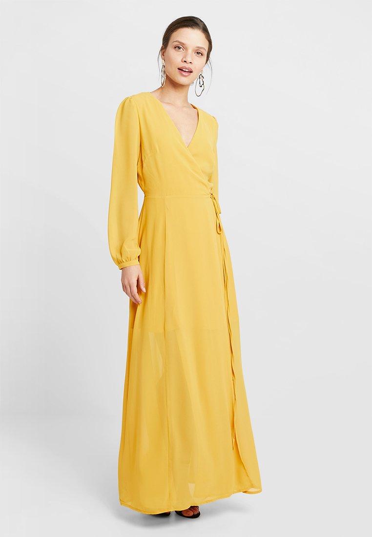 Glamorous Petite - WRAP MIDI DRESS - Maxi dress - yellow