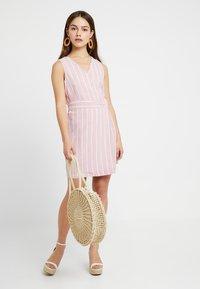 Glamorous Petite - Day dress - wide pink/white - 1