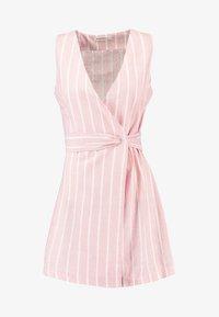 Glamorous Petite - Day dress - wide pink/white - 5