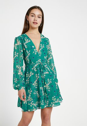 FLORAL DRESS - Day dress - green/lilac