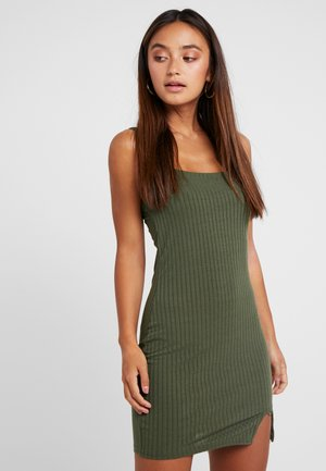 STRAPPY MINI DRESS - Jerseykjoler - khaki